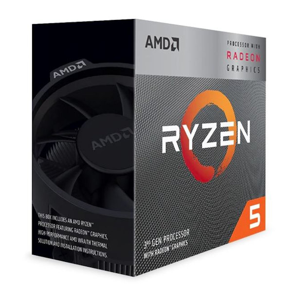 AMD Ryzen 5 3400G 4 Core – 3.7GHz